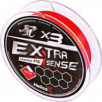 шнур helios extrasense x3 pe red 92m  0.6/10lb 0.14mm