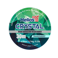 леска helios crystal nylon transparent 0,20mm/30
