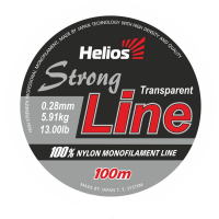 леска helios strong line nylon transparent 0,28mm/100