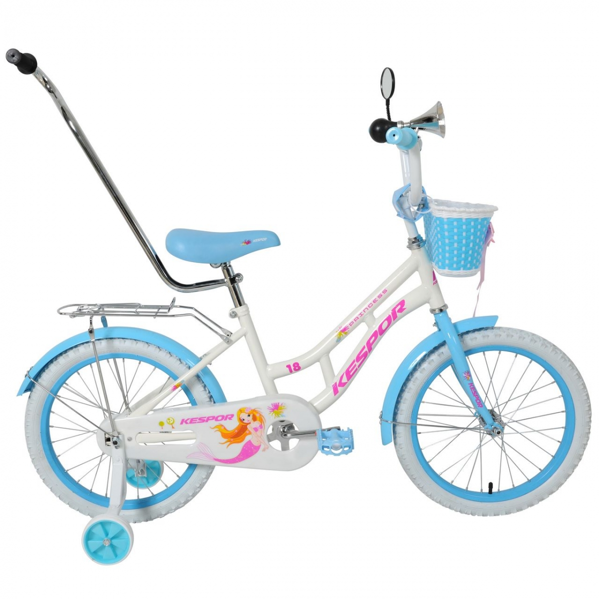 "велосипед kespor 18"" princess белый"