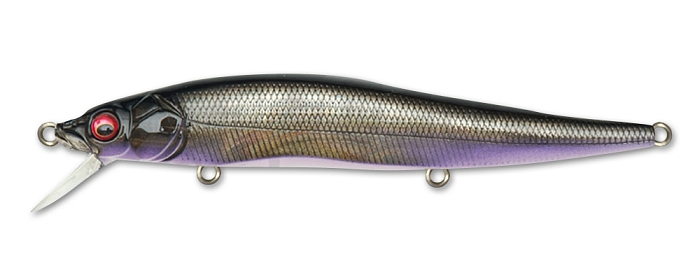 воблер megabass vision oneten hi-float (gg deadly black shad hf)