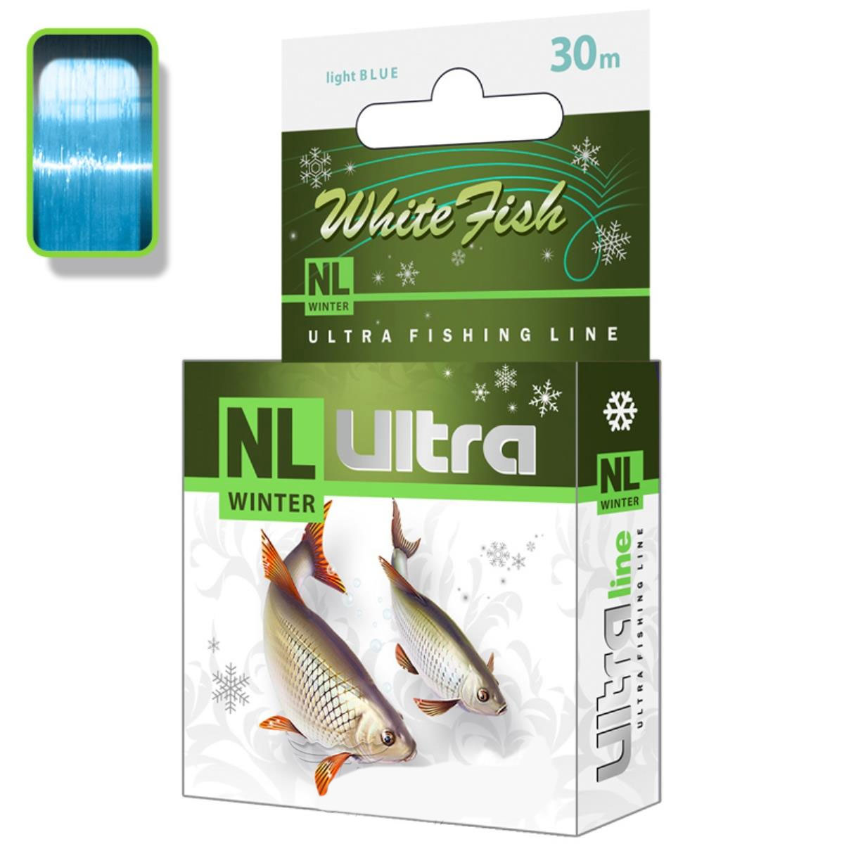 леска зимняя nl ultra white fish (белая рыба) 30m 0,16mm