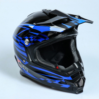 шлем мото hizer b6196 (xl) #2 black/blue