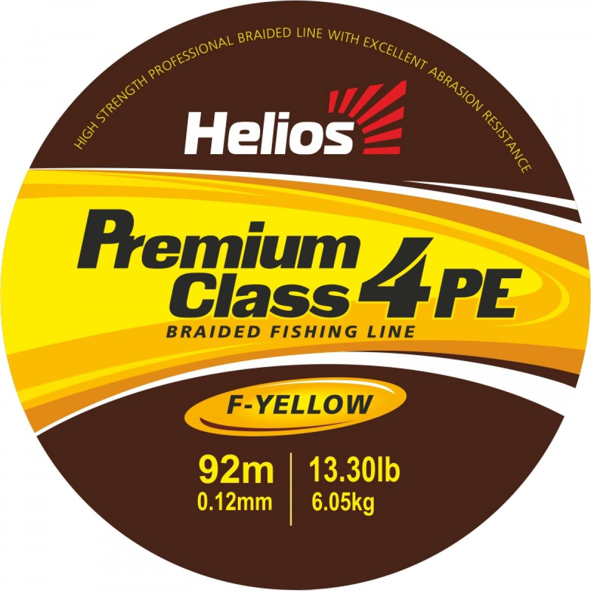шнур плетеный helios premium class 4 pe braid fluorescent yellow 0,12mm/92