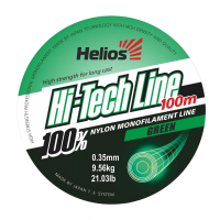 леска helios hi-tech line nylon green 0,35mm/100