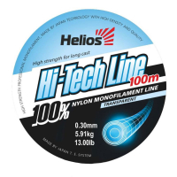 леска helios hi-tech line nylon transparent 0,30mm/100